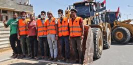 مصر ترسل معدات لازالة الدمار من قطاع غزة