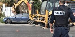 اتلاف مركبات غير قانونية في رام الله