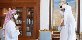 امير قطر وطحنون بن زايد