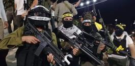 مسلحين في مخيم جنين
