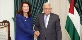 عباس ووزير خارجية السويد