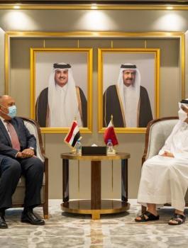 وزير خارجية مصر وقطر