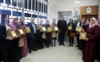 وزير التربية يكرم مديرات المدارس في يوم الام