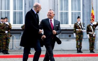 الملك الاردني في بروكسل