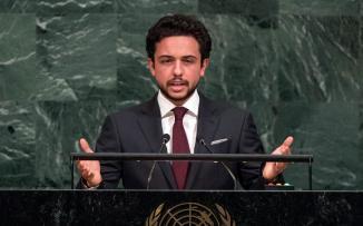 ولي العهد الاردني والقضية الفلسطينية