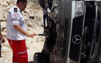 حادث باص في واد الفارعة