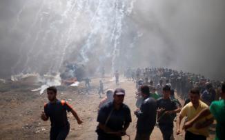 المتظاهرين في غزة