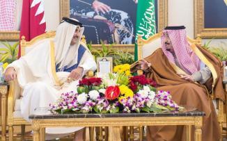 امير قطر والملك سلمان