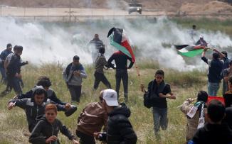 اصابات في مسيرات العودة بغزة