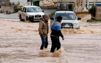 كمية الامطار التي هطلت على فلسطين