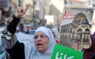 مسيرات بالاردن دعما للمسجد الأقصى