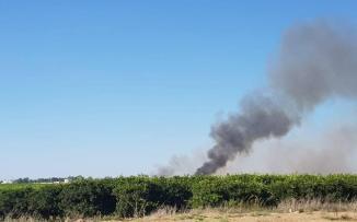 اندلاع حرائق في غزة
