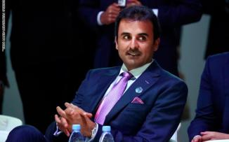 امير قطر ودعم لبنان
