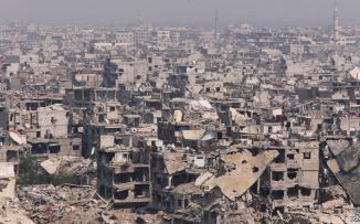جيش النظام السوري يعلن طرد داعش من مخيم اليرموك