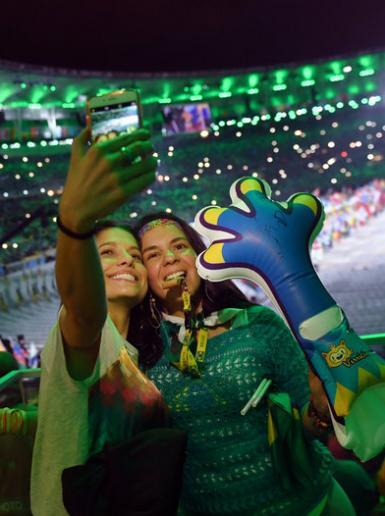 جانب من حفل اختتام الالعاب الاولمبية في البرازيل