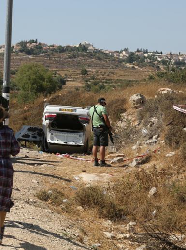 من مكان استشهاد شاب برصاص قوات الاحتلال الإسرائيلي جنوب بيت لحم