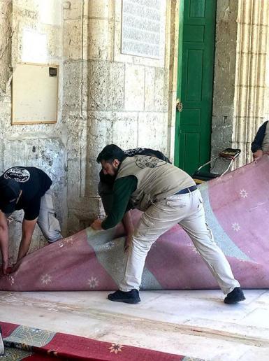 التجهيزات مستمرة لاستقبال شهر رمضان في المسجد الأقصى