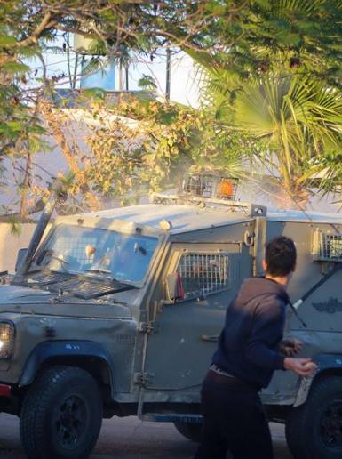 المواجهات التي اندلعت في النبي صالح شمال غرب رام الله