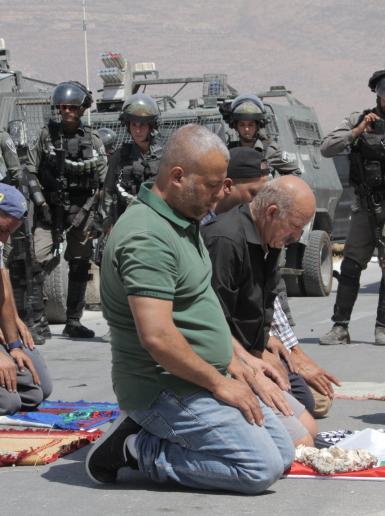 اهالي قرية كفرمالك شرق رام الله ينظمون مسيرة احتجاجا على سرقة اراضيهم لصالح اقامة بؤرة استيطانية