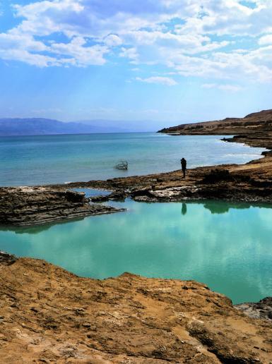 مشاهد من البحر الميت في أريحا