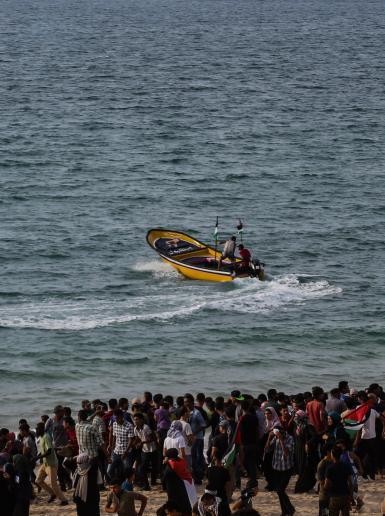 24 اصابة في قمع الاحتلال لمسيرة بغزة