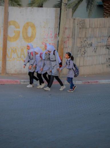 انتظام الدوام المدرسي في قطاع غزة بعد انقطاع لعدة أيام بسبب التصعيد الإسرائيلي