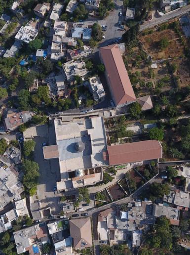 صور جوية لقرية عين كارم المهجرة غرب القدس