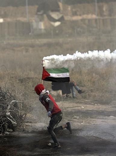 من المواجهات التي اندلعت على الحدود الشرقية لقطاع غزة