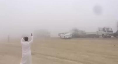 حادث سير جماعي في السعودية نتيجة الضباب