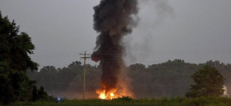 تحطم طائرة عسكرية امريكية