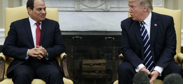 ترامب والسيسي ونتنياهو