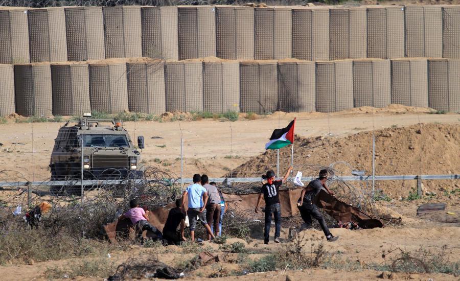 اصابات في مسيرات العودةب بغزة