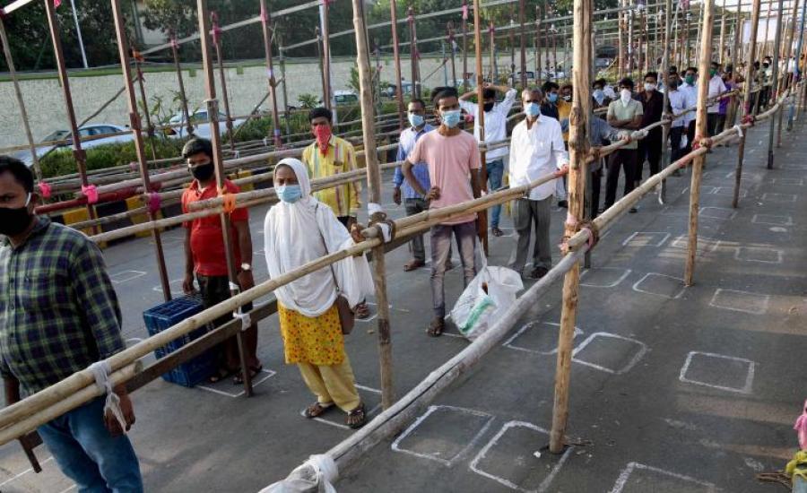 الاصابات بفيروس كورونا في الهند