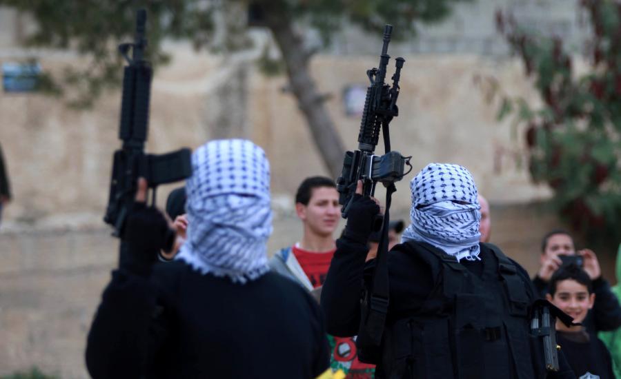 اطلاق النار خلال استقبال أسير محرر
