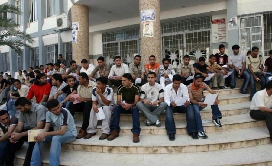 معدل البطالة في غزة