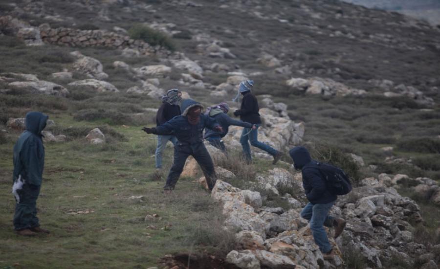 هجمات للمستوطنين على الفلسطينيين في عصيرة القبلية