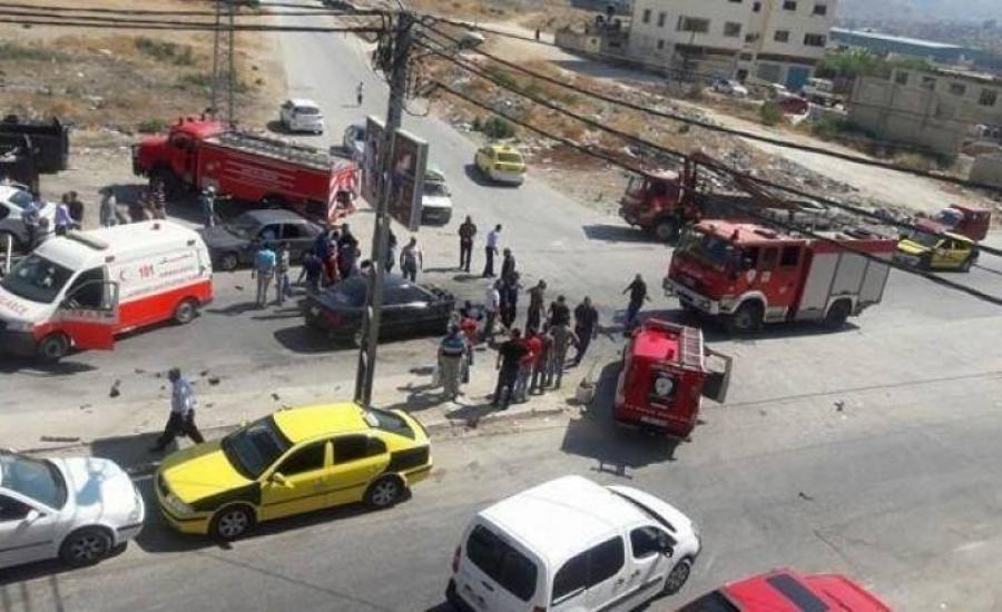 اصابات في حادث سير جنوب نابلس