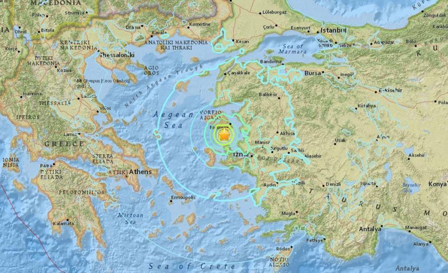 زلزال في ازمير
