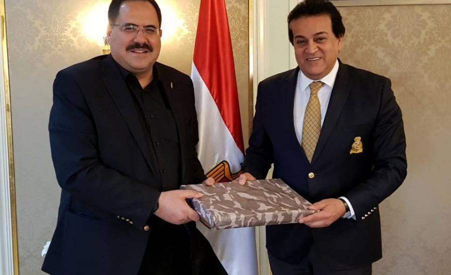 صبري صيدم ووزير التربية والتعليم المصري