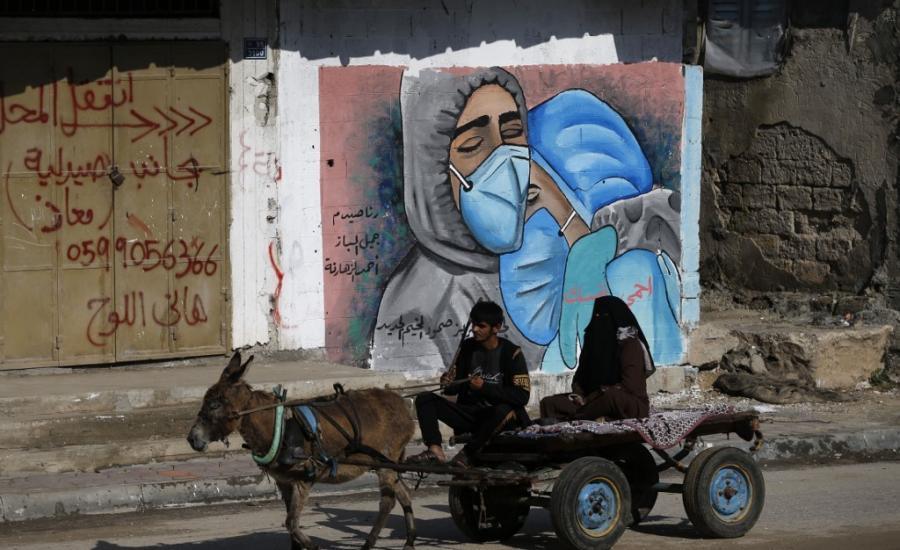 الاصابات بكورونا في غزة