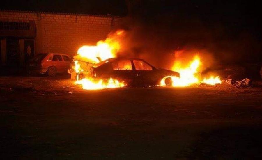 حرق مركبات في ترمسعيا
