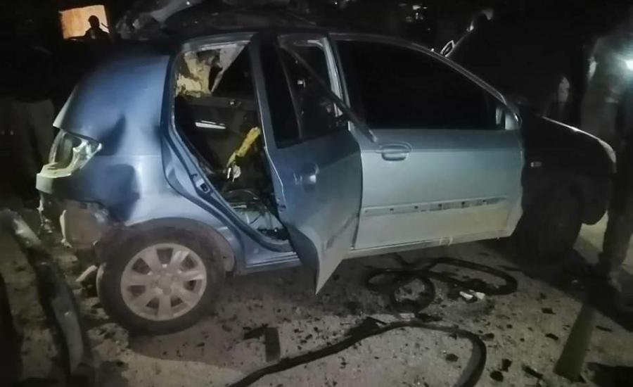 اعتقال ثلاثة شبان بعد تفجير مركبتهم في قباطية
