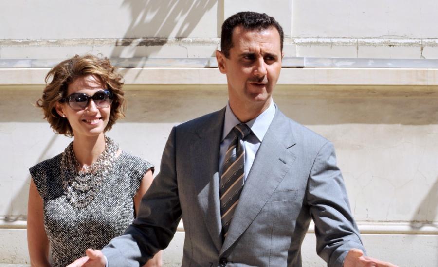 اصابة الاسد وزوجته بفيروس كورونا