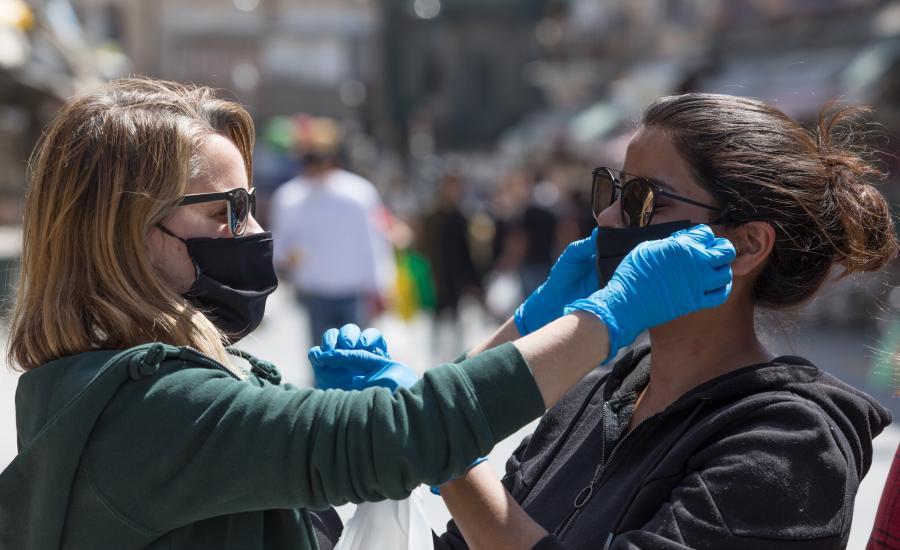 اسرائيل والكمامة واللقاح ضد فيروس كورونا