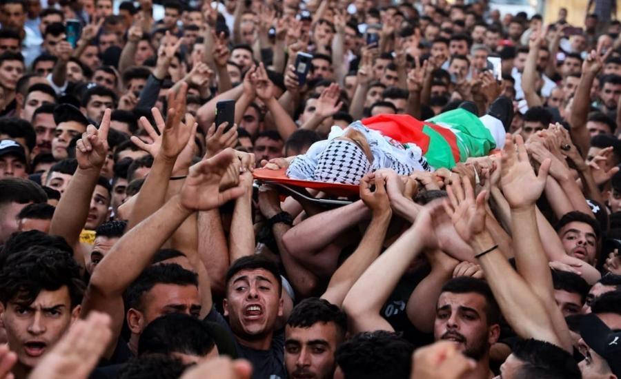 تشييع جثمان الشهيد محمد حمايل