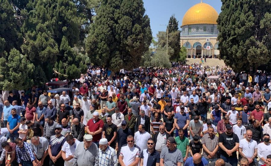 صلاة الجمعة في رحاب المسجد الاقصى