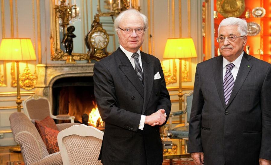 عباس وملك السويد