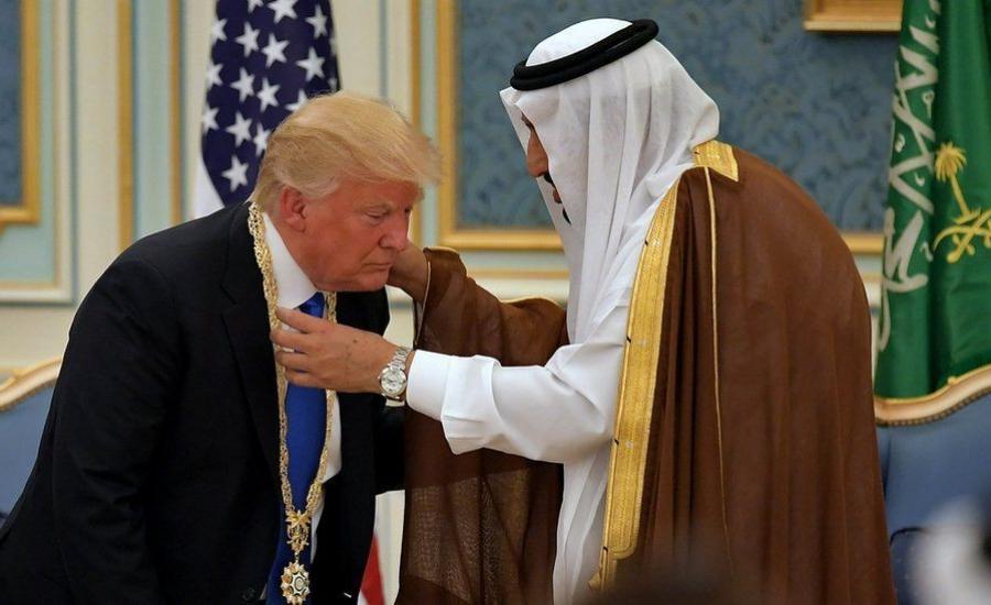 الملك سلمان والسعودية وترامب