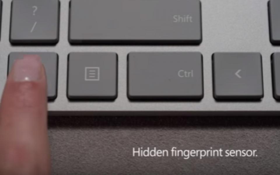 لوحة مفاتيح جديدة بقارئ للبصمة من مايكروسوفت - موقع رام الله الإخباري