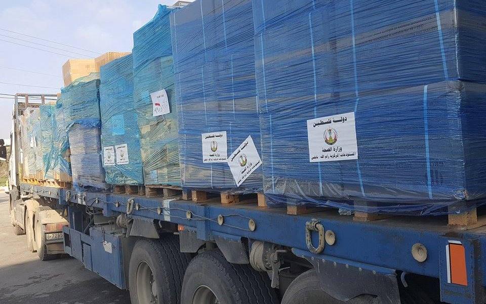 الصحة  تسير 39 شاحنة أدوية الى مستودعاتها في غزة - موقع رام الله الإخباري